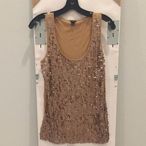 Ann Taylor Sequined Tank Top
